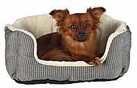 Лежак Trixie Davin плюш и флис, серо-бежевый, 50х40 см