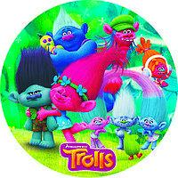 Тарелки бумажные Тролли (trolls) 10шт.