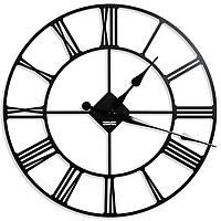 Часы настенные металлические лофт большие римские цифры Weiser LONDON (100 см) [Металл]