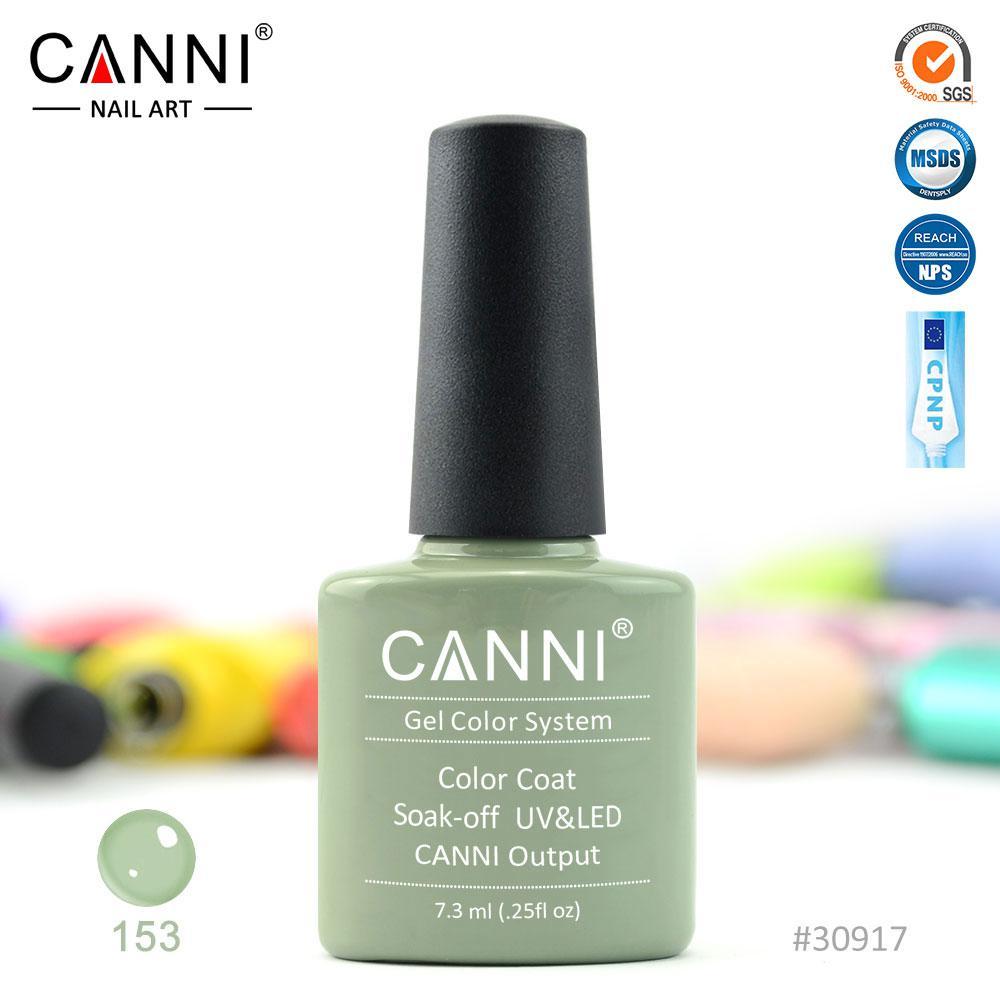 Гель-лак Canni 153 светло-оливковый 7.3ml