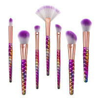 Сотовый яркий фиолетовый макияж для волос 7PCS 19cм x 3cм x 2.5cм