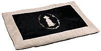 Коврик Trixie King of Dogs Blanket плюш и полиэстер, черно-бежевый, 100х70 см