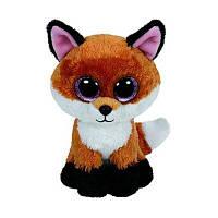 6-дюймовый Slick Brown Fox Плюшевые детские фаршированные куклы Коллекционные мягкие игрушки Big Eyes Коричневый