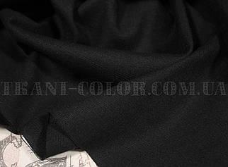Ткань лён стрейч черный