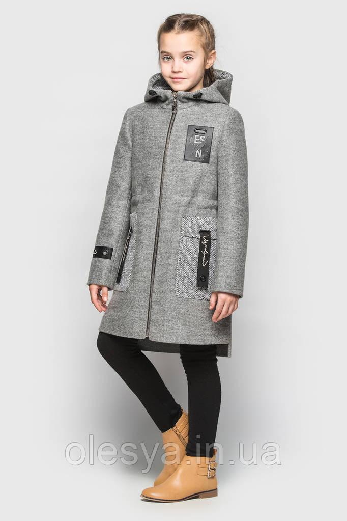 Детское подростковое модное пальто Дженни Размеры 128- 158 Новинка весны 2018!