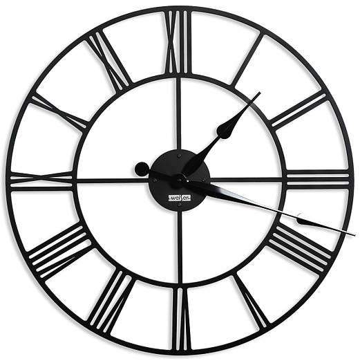 Дизайнерские настенные часы Weiser LONDON2 (100 см) [Металл, Открытые]