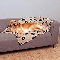 Коврик Trixie Barney Blanket флисовый, с принтом, 150х100 см