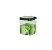 612 Емкость для сыпучих продуктов,квадр. 0,65л Зеленый бамбук