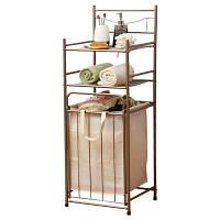 Шкаф для хранения стеллажей для ванной комнаты ORZ с корзиной для стирки 105.5 cм x 38.2 cм x 35.5 cм