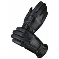 Моделирование Кожа PU Wash Leather Трехсторонние линии Перчатки Осень Зима Велоспорт Теплые мужчины и женские перчатки 22x10x24cм