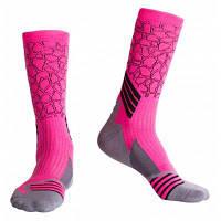 3 пары Мужские спортивные компрессионные носки для бега Розовый