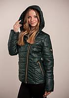 Куртка женская Наоми/без меха/батал (зелёный)