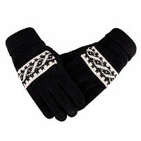 Мужское зимнее утолщение и шерстяные теплые свиные кожаные перчатки Кожаные велосипедные перчатки против холодной шерсти 23x9x25cм