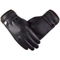 Новые горячие стильные перчатки Мужской сенсорный экран имитирует кожу PU Wash Leather and Wool 22x10x24cм