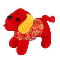 Счастливая собака Lifelike фаршированный подарок на свадьбу для животных Красный