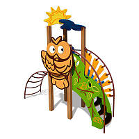 """Детский игровой комплекс Ручеек (стальная лестница, декоративная панель """"Сова"""") InterAtletika"""