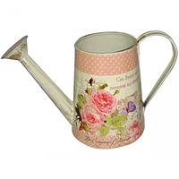 555-013 Декоративная металлическая лейка Розовые мечты 13*15,5 см