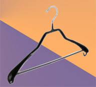 Плечики для одежды металлические, широкие с перекладиной (40 см)