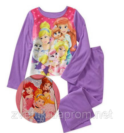 Пижама фланель Принцессы   Disney ( США) (Размер 7-8 лет)