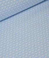 Ткань. Хлопок Пряжа свитерок голубого цвета. Отрез 50х40см