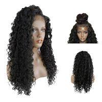 Длинная сторона Расставание Лохматый паттерн человеческих волос с длинными рукавами Чёрный