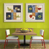 Специальная конструкция каркасных картин Apple A Banana Print 2PCS 16 x 16 дюймов (40cм x 40cм)
