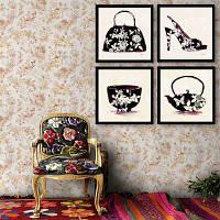 Специальный дизайн Картины Картины Горшок Боула Обувь Печать 4PCS 12 x 12 дюйма (30cм x 30cм)