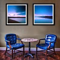 Специальная конструкция Каркасные картины Clear Water, Blue Sky Print 2PCS 12 x 12 дюйма (30cм x 30cм)