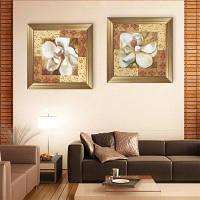 Специальная конструкция Каркасные картины Белый внутри Deeply Red Печать 2PCS 20 x 20 дюймов (50cм x 50cм)