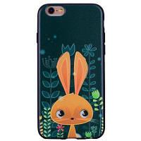 Очаровательны кроликов телефон чехол для IPhone 6 Plus / 6s Plus мультфильм помощи мягкие силиконовые ТПУ покрытия случаи защиты телефон сумка