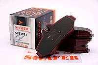 Тормозные колодки (задние с пластиной, Shäfer SB23021) MB Sprinter -06 (Bosch Безухая)