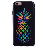 Красочный ананас телефон чехол для IPhone 6 / 6S мультфильм помощи мягкие силиконовые чехлы корпуса чехол для защиты телефона сумка с