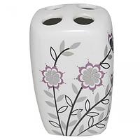 888-049 Подставка для зубных щёток Полевые цветы 10*7*6см
