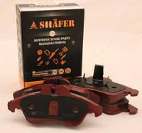 Тормозные колодки (передние с пластиной, Shäfer SB23990) MB Sprinter 96-06 однокатковый