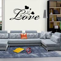 DSU Спальня Виниловые наклейки на стене Каждая любовь QUOTE Настенные наклейки для спальни 58x27cм