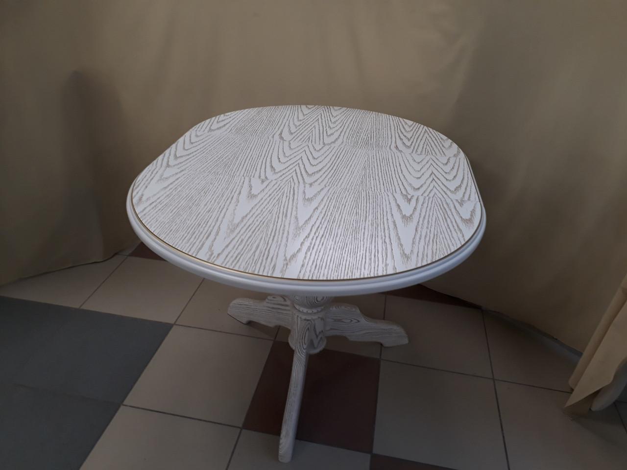 Стол ОРИНОКО (белый+золото)