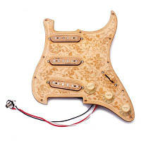 Предварительно заряженный SSS Кленовый лес Pickguard Alnico V Пикапы для Strat Guitar дерево