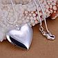Цепочка с подвеской Сердце покрытие серебро код 1380, фото 2