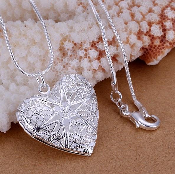 Цепочка с подвеской Сердце покрытие серебро код 1380