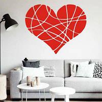 DSU Geometric Heart DIY Стикер стены для домашнего декора Минимализм Скандинавский стиль Творческие романтические гостиные стенки Стены Картины стен