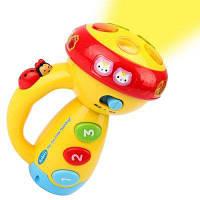 Творческий Многофункциональный фонарик Музыка Просветление игрушки Цветной