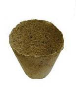Торфяной горшок для рассады тонкий круглый, 7 см (упаковка 10 шт), фото 1