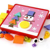 Творческая игрушка Мультфильм Гриб ногтей Просвещения Раннее образование Jigsaw игрушки Красный