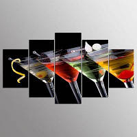YSDAFEN HD Напитки Группа Холст Print Room Decor Печать Плакат Изображение 30x40cмx2+30x60cмx2+30x80cмx1 (12x16дюймовx2+12x24дюйм