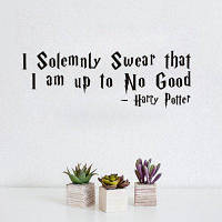 DSU Solemnly Swear Quotes Виниловые наклейки Стикеры для стен Home Decor Living Room 58x20cм