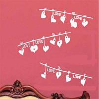 DSU LOVE Сердце День Святого Валентина Creative Essence стены наклейки Домашнее украшение 53x35cм