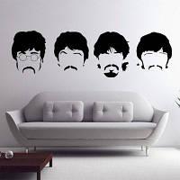 Битлз стены наклейки Новые проекты Съемная музыка Beatles Виниловые наклейки стены Home Decor 58 x 197 cм