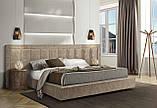 Современная двуспальная кровать TONIGHT с широким и мягким изголовьем, фабрика Eko Divani (Италия), фото 5