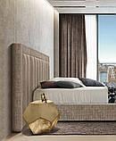 Современная двуспальная кровать TONIGHT с широким и мягким изголовьем, фабрика Eko Divani (Италия), фото 3