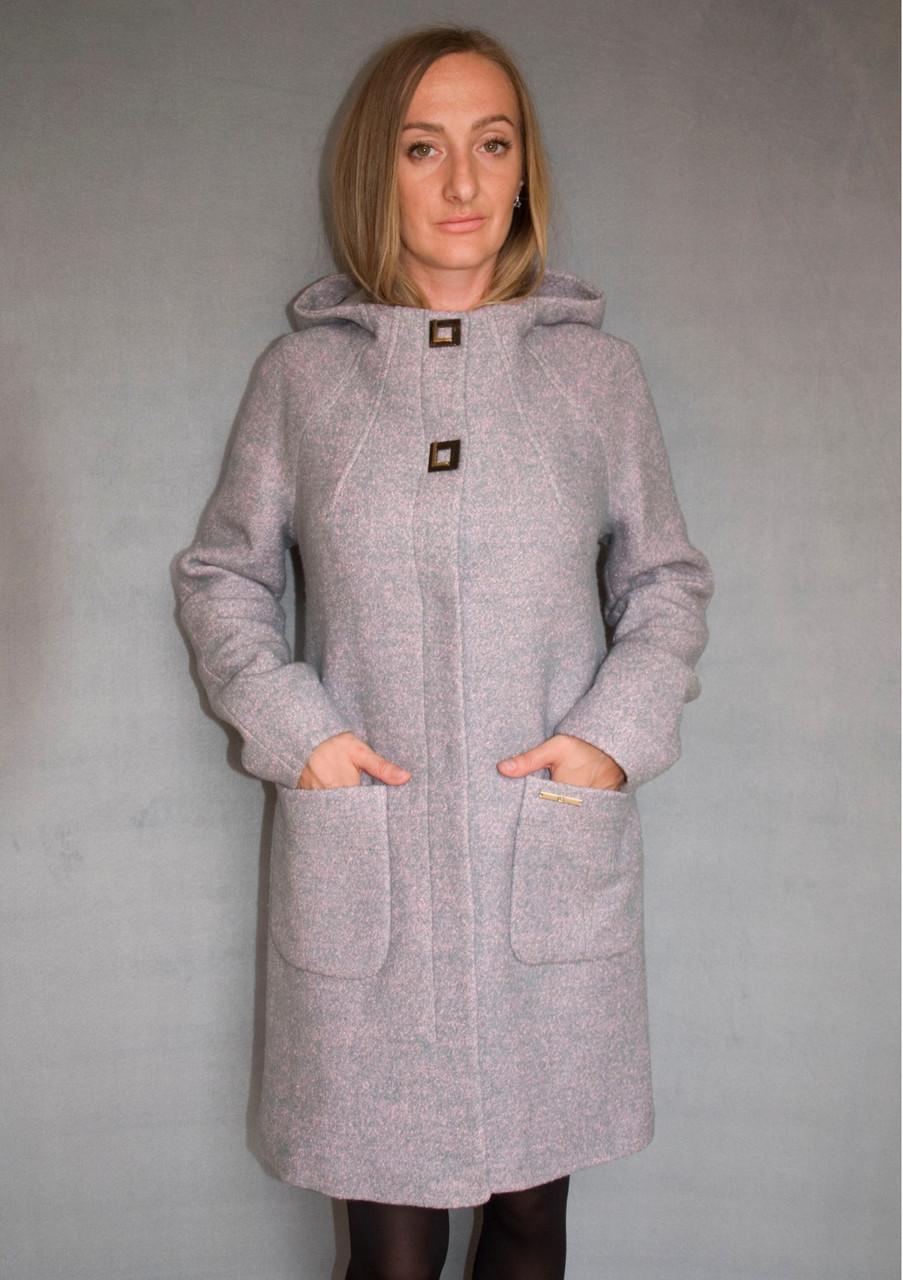 Пальто женское №52/1 ЗИМА (розовый)